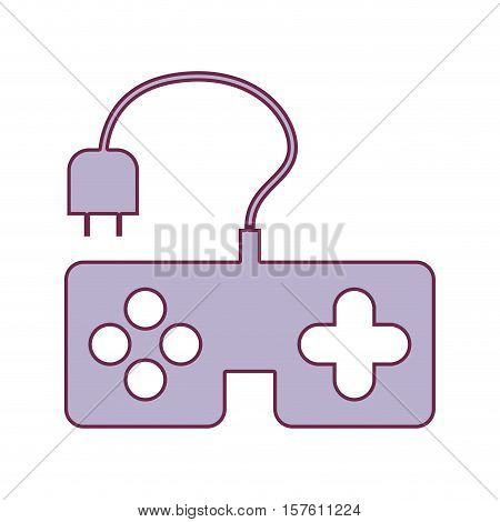 contour remote control games in light purple color vector illustration