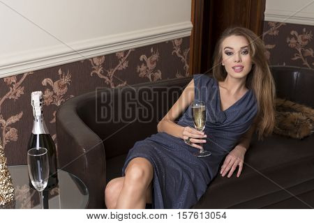 Happy Woman At Elegant Party