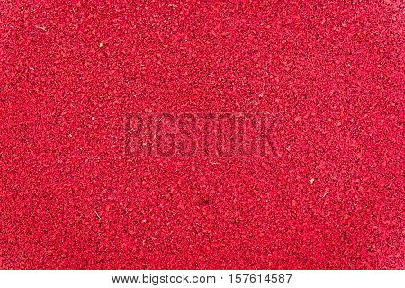 Red Running Track Rubber Texture. Top View Rubber Running Track