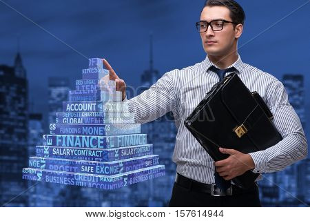 Businessman in ponzi scheme concept