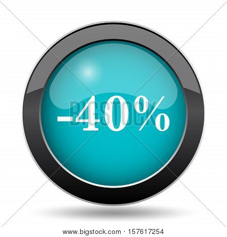 40 Percent Discount Icon