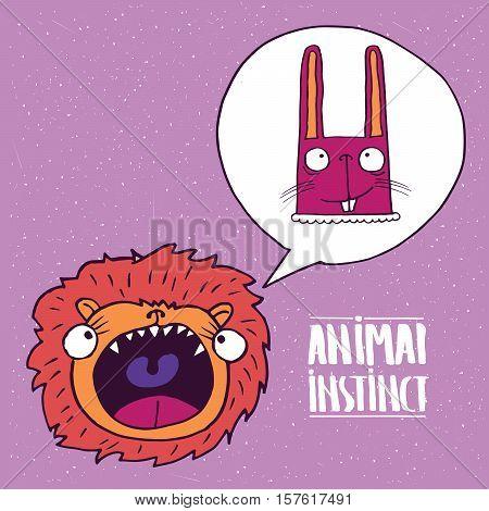 Animal Instinct From Lion To Rabbit