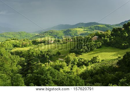 Stormy Landscae Near Urbino