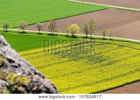 Beautiful landscape in Bavarian Altmuhltal in Germany