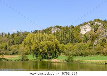Bavarian Landscape With Lake