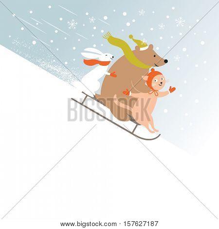 Christmas card, New Year's card