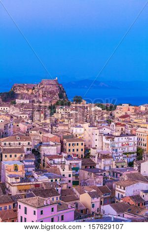 Aerial View From New Fortress At Evening, Corfu