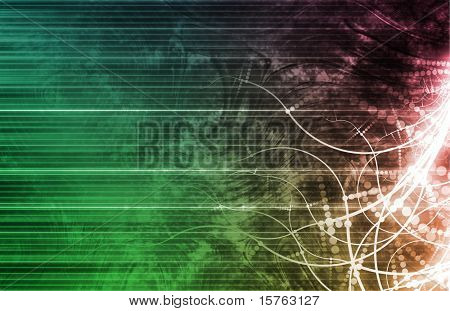 Digital Multimedia with a Media Modern Abstract poster