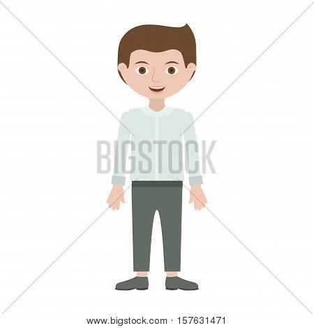 guy with formal suit and pants vector illustration