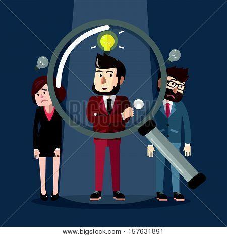 Businessman pick up eps10 vector illustration design