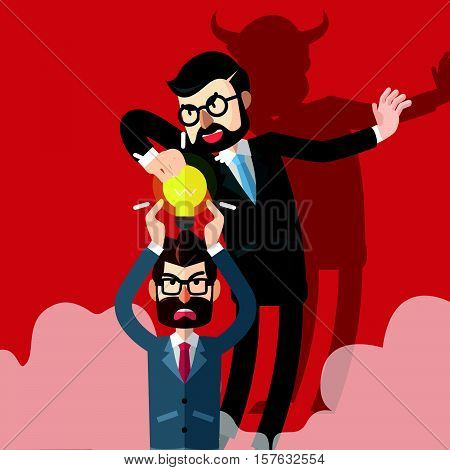 Business man idea stolen eps10 vector illustration design
