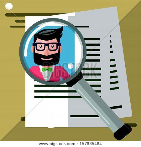 Business man find talent eps10 vector illustration design