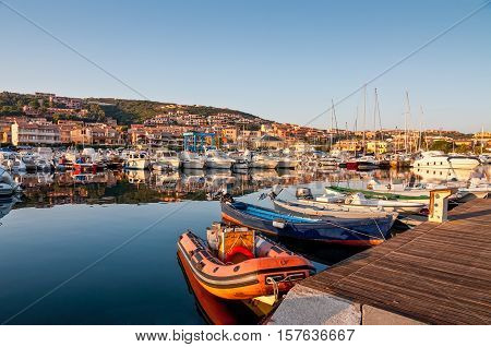 Nice morning in Palau port Sardinia Italy