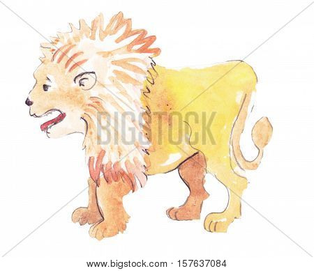 placeholder colorfull and watercolor happy big lion
