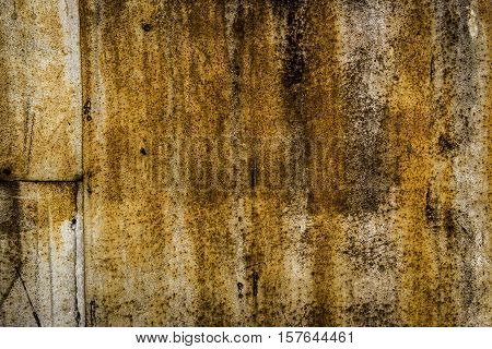 Metal texture, iron metal, dark metal, abstract metal backgroud, rusty metal, grunge metal, yellow rust, metal sheets