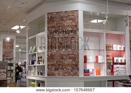 Coquitlam, BC, Canada - November 18, 2016 : Display kitchenware for sale inside Sears store