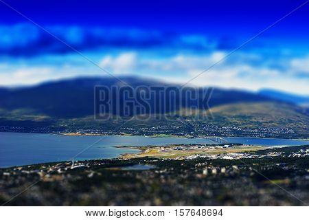 Tromso bridge micro toy landscape background hd