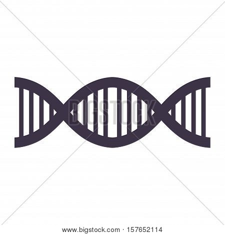 DNA strand silhouette with code genetical vector illustration