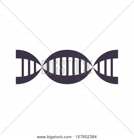 Chain genetics code silhouette with chromosome vector illustration