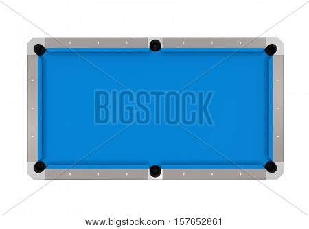 Empty Billiard Table isolated on white background. 3D render