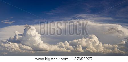 Overcast Summer Cloudscape Panorama Background