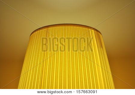 Illuminated lampshade, a classic decoration for home.