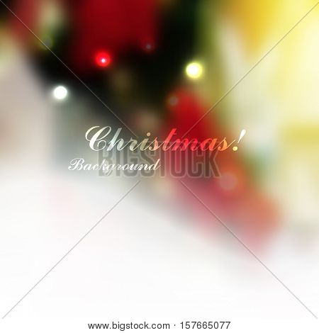 Blurred defocus Christmas background. eps10 vector