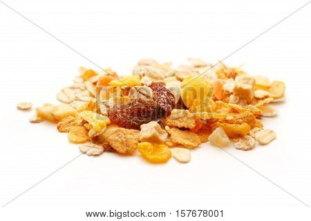 Heap Of Fresh Musli With Raisin