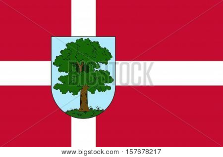 Flag of City Hillerod is located in the north of the island of Zealand north of Copenhagen. The administrative center of the commune and the chief town Hillared Danish region Hovedstaden