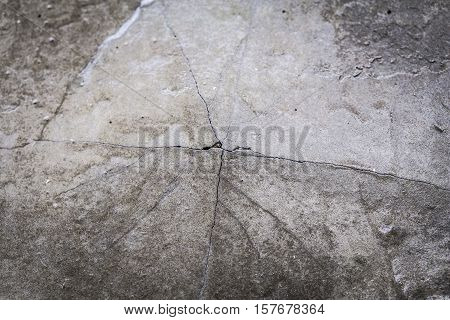 Grunge Concrete Cement Wall With Crack In Home Loft Style, Great For Your Design And Texture Backgro