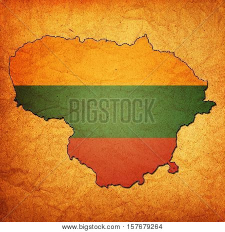Lithuania Territory With Flag