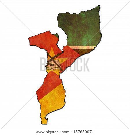 Mozambique Territory With Flag