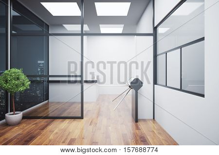 Clean Interior With Turnstile And Reception