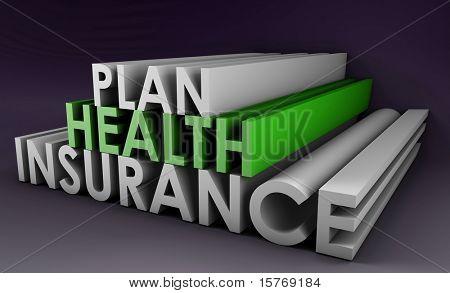 Póliza de Plan de seguro médico en arte 3D