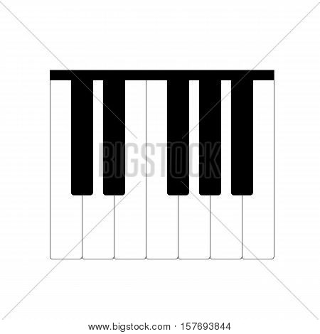 Standard piano octave isolated on a white background. vector illustration