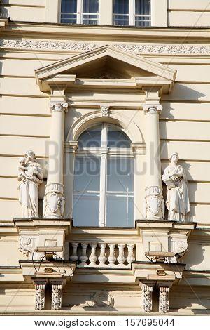 neo-classical architecture of City Hall in Novi Sad Serbia