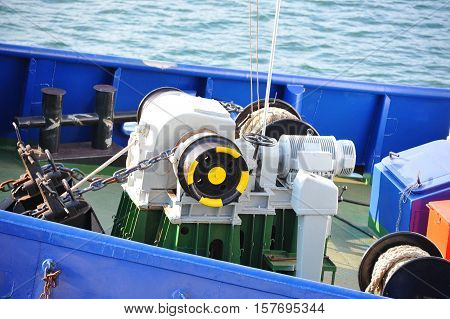 Anchor Windlass With Chain