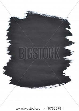 uncertain chaotic backdrop. strokes of black paint made by a finger. black finger smears on a white background isolated. abstract background space for text base