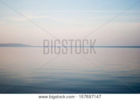 Calm and foggy november morning on a Kaliningrad Lagoon, Baltic Sea poster