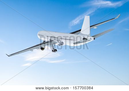 airplane aircraft transport aeroplane transportation travel traveler flight fly air plane trip jet business heaven airport concept - stock image
