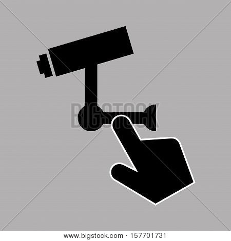 data protection smartphone surveillance camera vector illustration eps 10