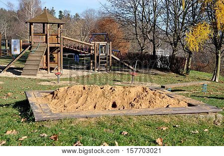 view the free children's playground and sandpit