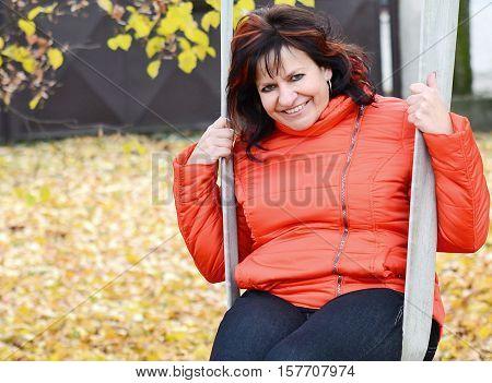 Woman Portrait In Park