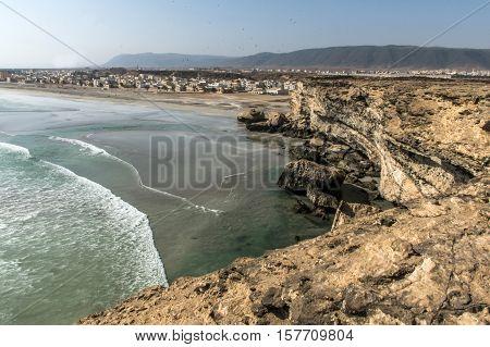 coastside view Taqah plateau City Salalah Dhofar Sultanate of Oman