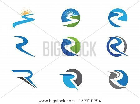 R , s Letter Logo template vector icon