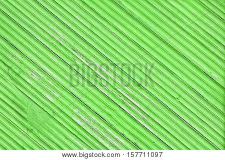 Old Peeled Weathered Green Barn House Wood Wall Background Texture