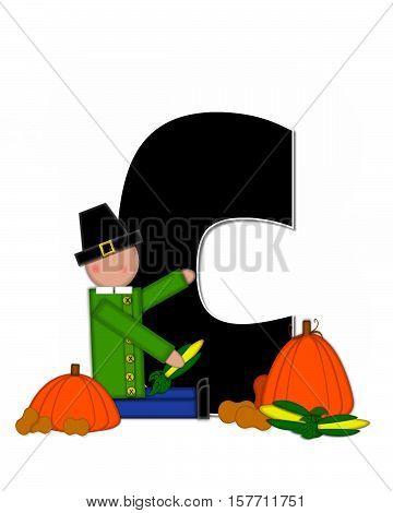 Alphabet Children Thanksgiving C