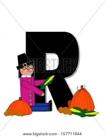 Alphabet Children Thanksgiving R