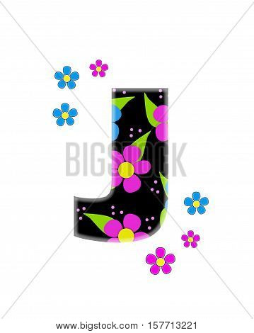 Alphabet Flower Topia J