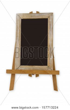 Chalkboard on Art Easel isolated on white background